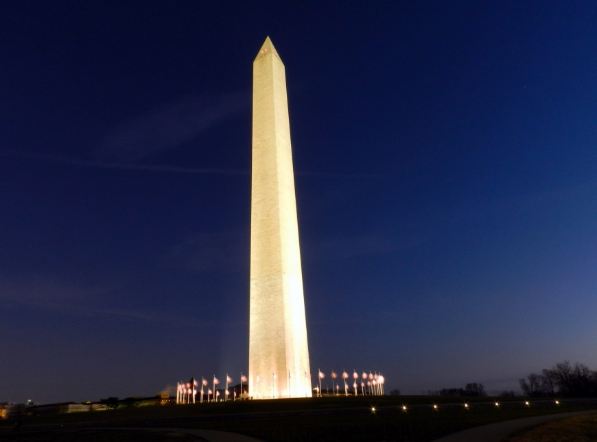 DC Monuments Under the Full Moon